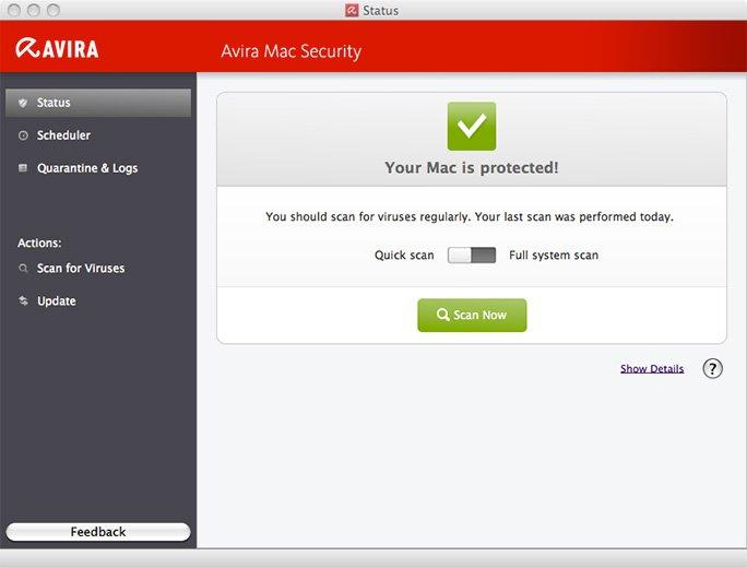 Avira Free Mac Security - бесплатный антивирус для Mac