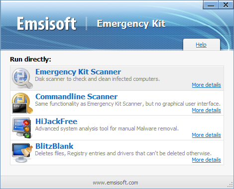автозапуск Emsisoft Emergency Kit