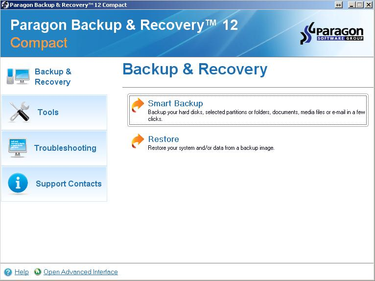 Paragon Backup and Recovery 12 Compact - бесплатная лицензия