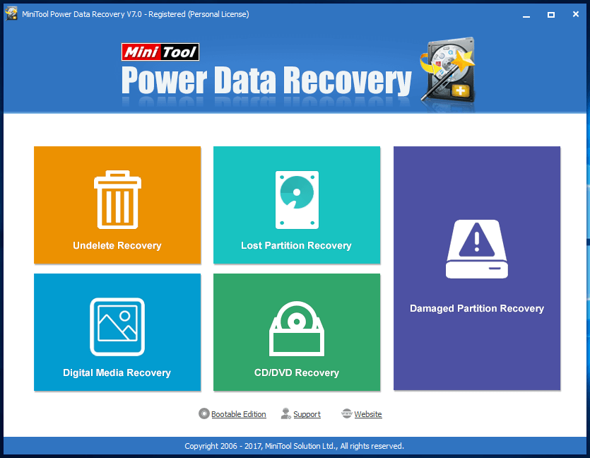 MiniTool Power Data Recovery Personal - бесплатная лицензия