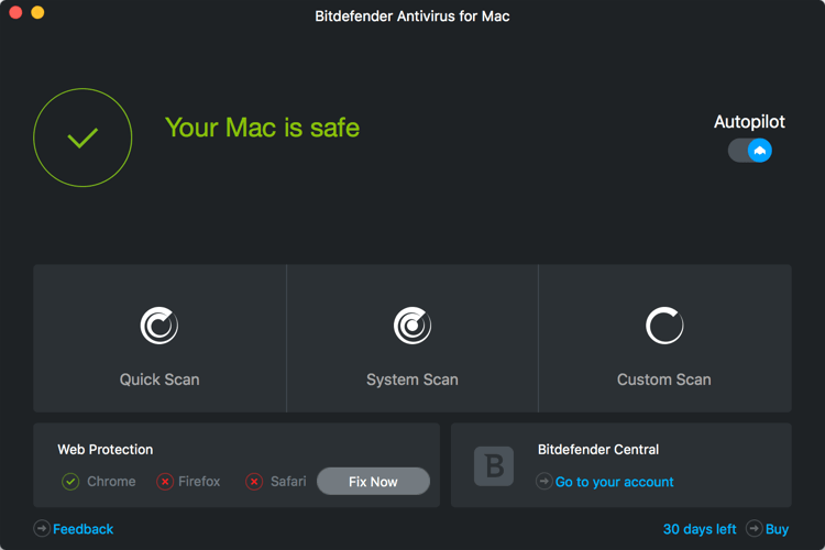 Обзор Bitdefender Total Security 2018. Антивирус для Mac