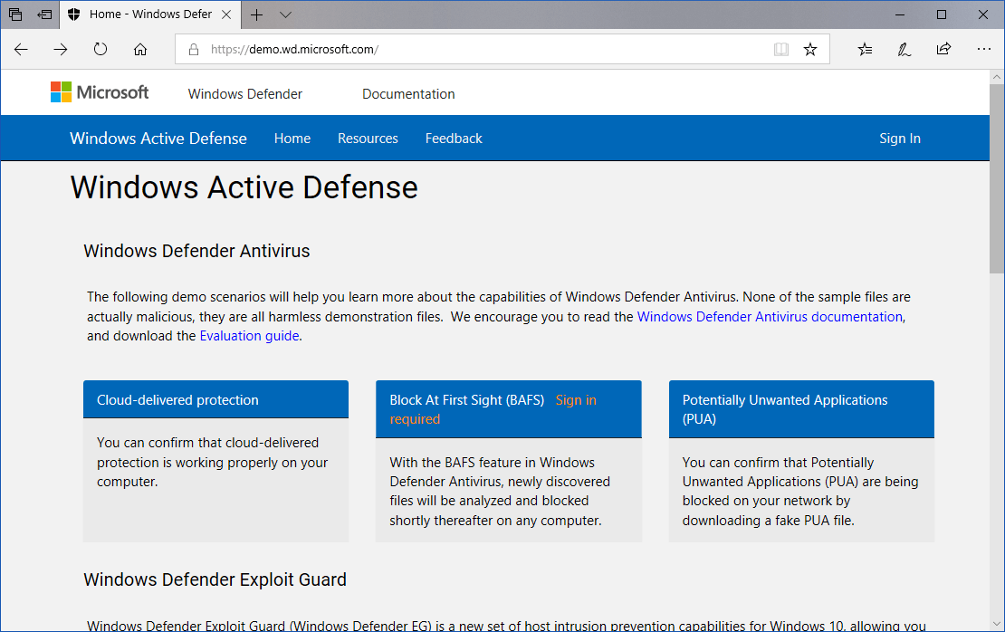 Windows Active Defense