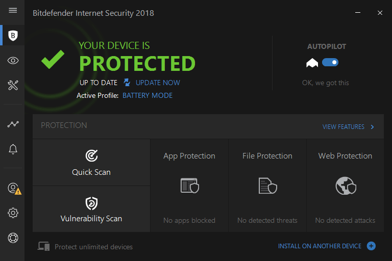 Обзор Bitdefender Internet Security 2018