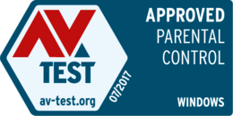 AV-Test APPROVED Parental Control Windows 07/2017