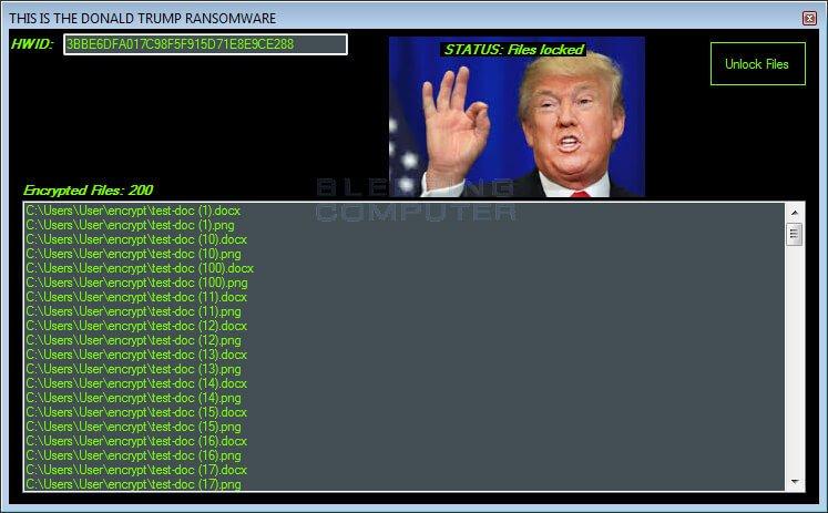 Шифровальщик «Дональд Трамп»