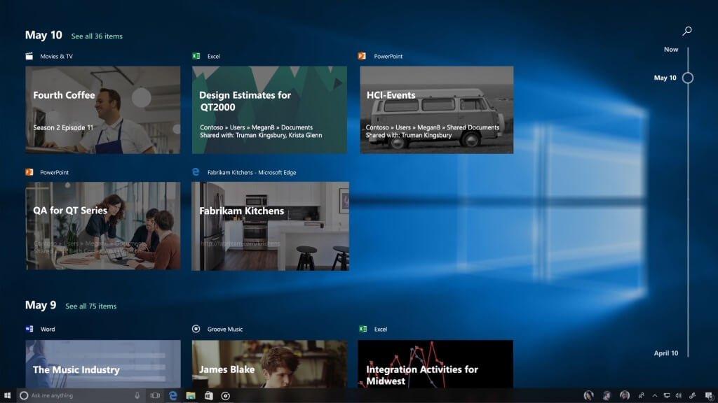 Обзор Windows 10 Fall Creators Update. Технология Microsoft Graph и Microsoft Timeline