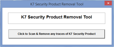 K7 Security Product Removal Tool