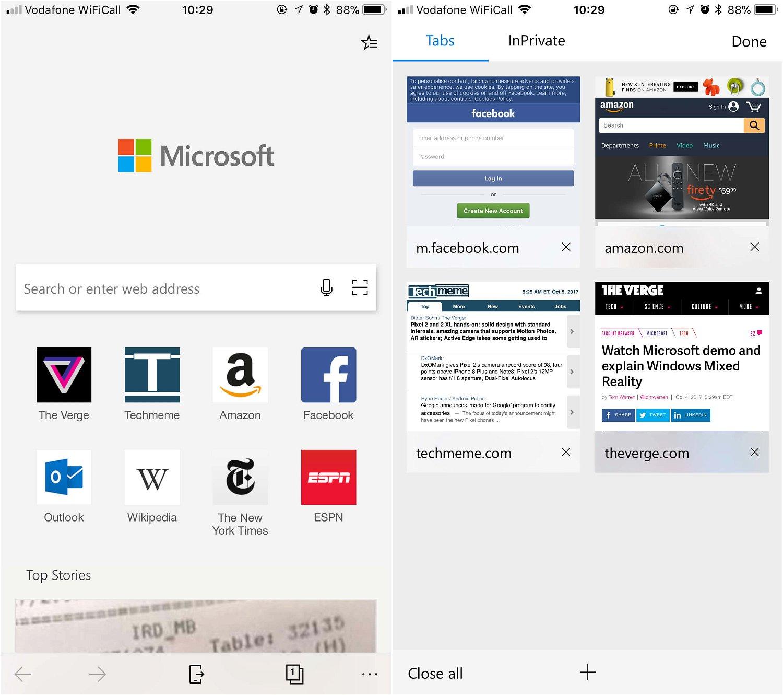 Microsoft Edge вышел на платформе iOS и скоро появится на Android
