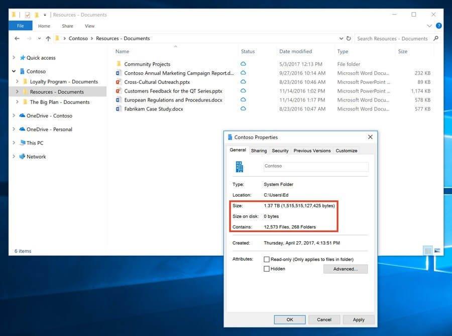 Файлы OneDrive по требованию