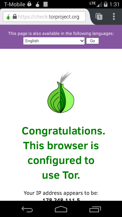 Orfox: Tor Browser для Android