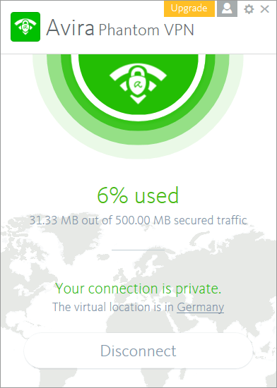 Использование Avira Phantom VPN
