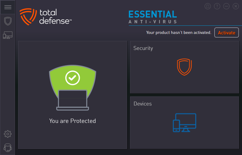 Total Defense Essential Anti-Virus - защита активна