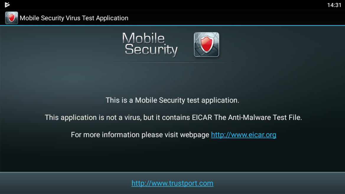 Mobile Security Virus Test от Trustport
