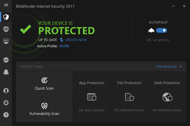 Антивирус Bitdefender для Windows 10 Creators Update
