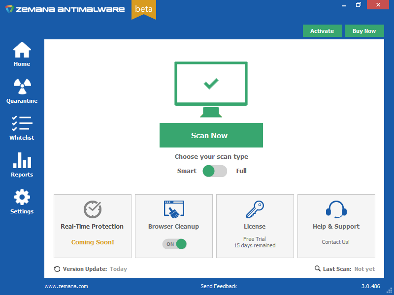Новое в Zemana AntiMalware 3.0 Beta
