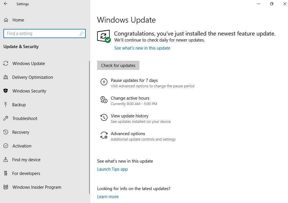 Windows 10 – Отложить обновления на 7 дней