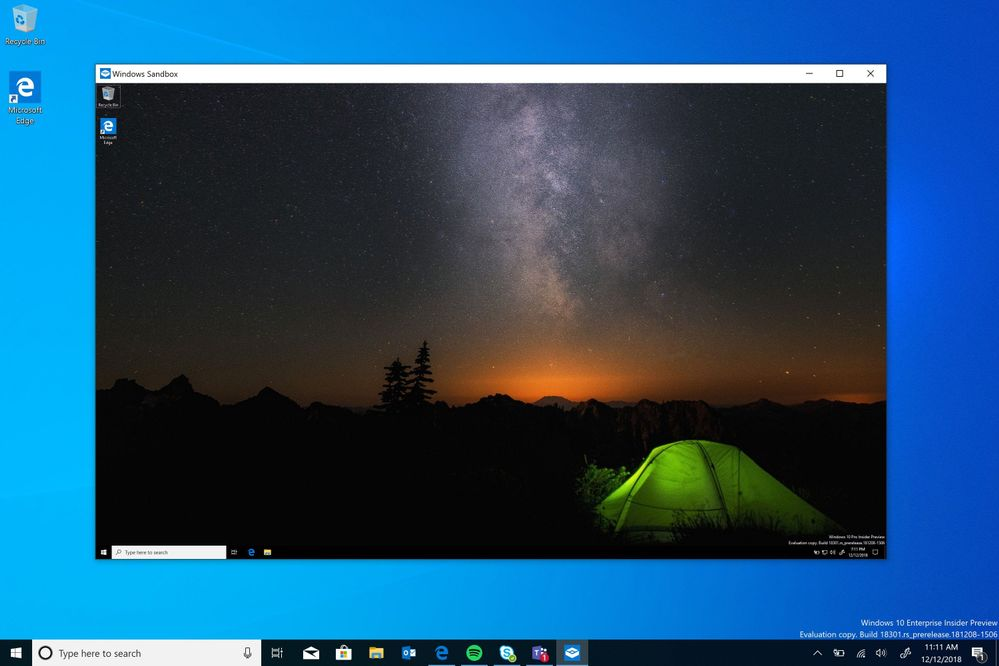 Обзор Windows 10 April 2019 Update (версия 1903): Песочница в Windows – Windows Sandbox