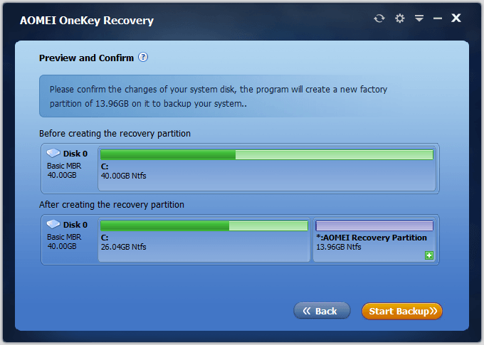 AOMEI OneKey Recovery – инструмент для восстановления ОС Windows