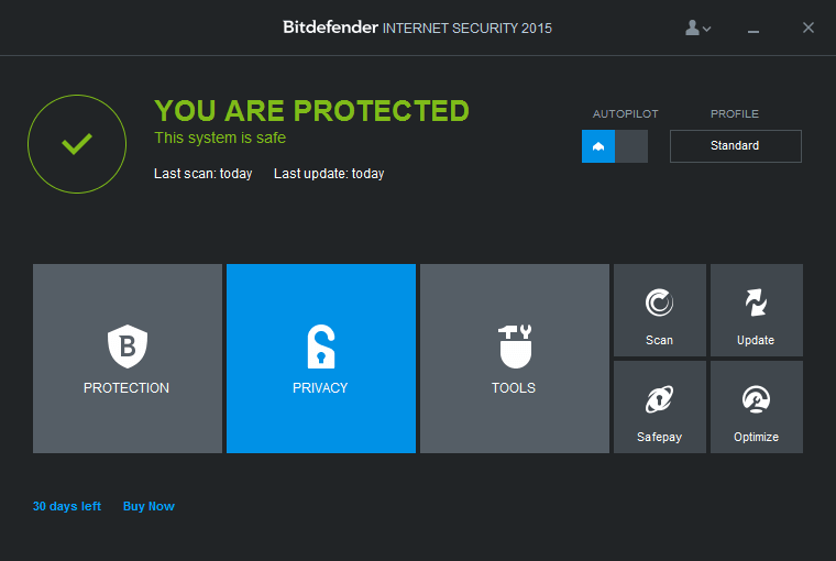 Bitdefender Internet Security для  Windows 10